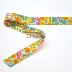 Biais Liberty - Poppy and Daisy orange