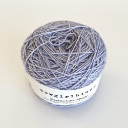 Merino Lace Single - Iced berry
