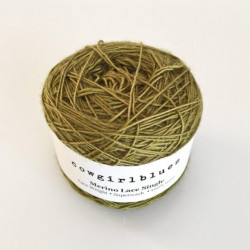 Merino Lace Single - Olive
