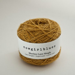 Merino Lace Single - Mustard