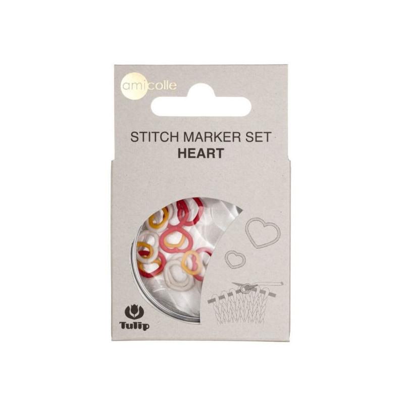 Assorted Stitch Marker Hearts W-R-Y