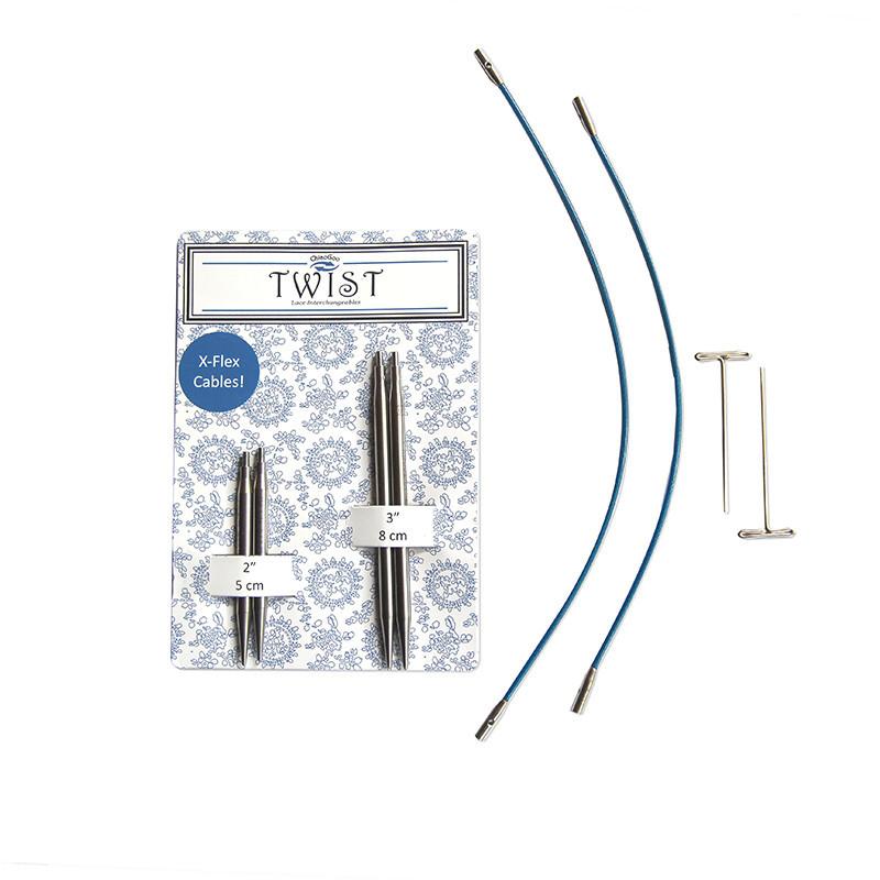 """Twist Short Combo Bleu 3.5 au 5mm en 2"""" & 3"""""""