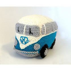 KIT CROCHET RETRO VAN BLEU