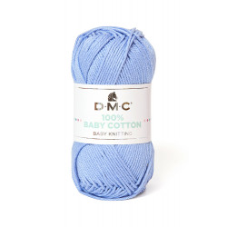 100% BABY COTTON BLEU CIEL 751