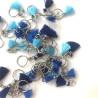 Anneaux Marqueurs Pompons Bleu Fonçé/Bleu Moyen/Turquoise