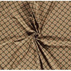 Toile Motifs géométriques Kaki